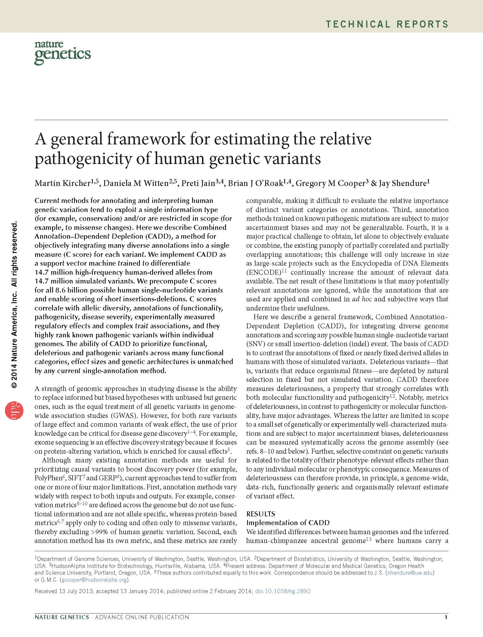 Research paper on genetics